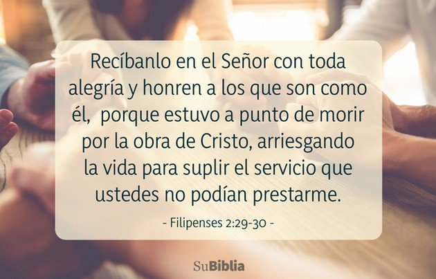 Filipenses 2:29-30
