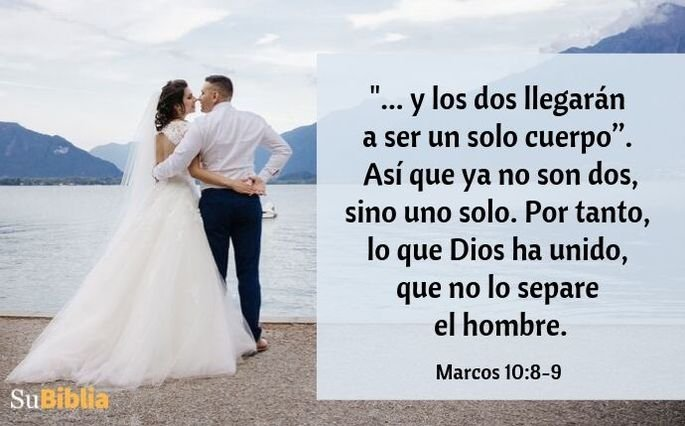 Marcos 10:8-9