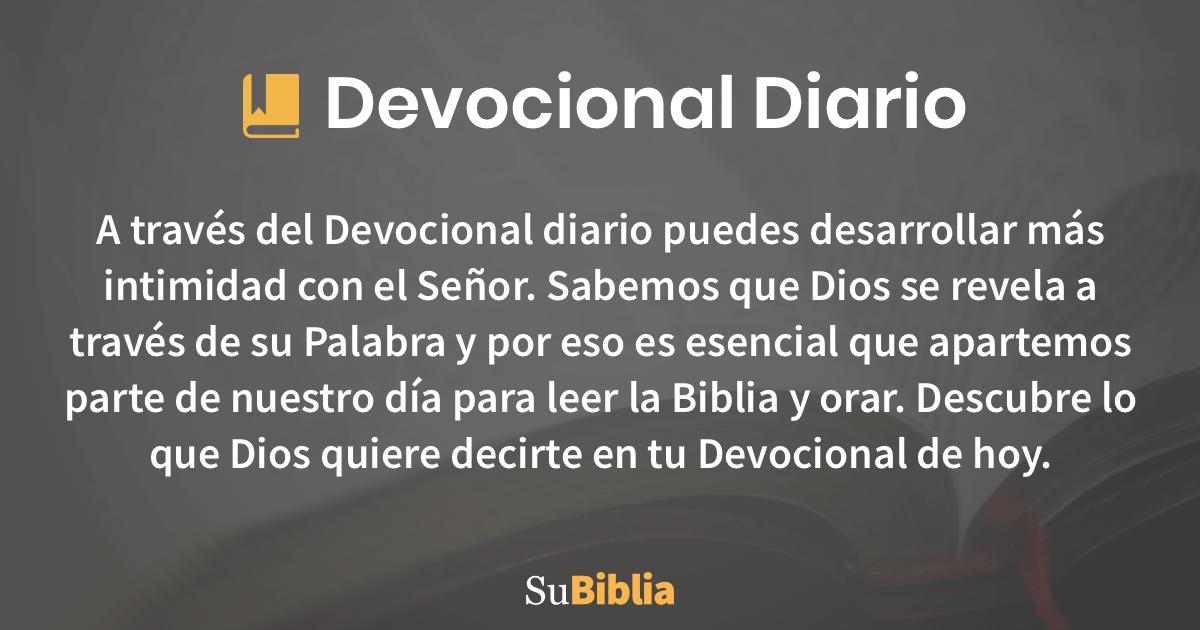Devocional Diario Su Biblia